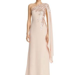 Tadashi Shoji one shoulder sequin gown